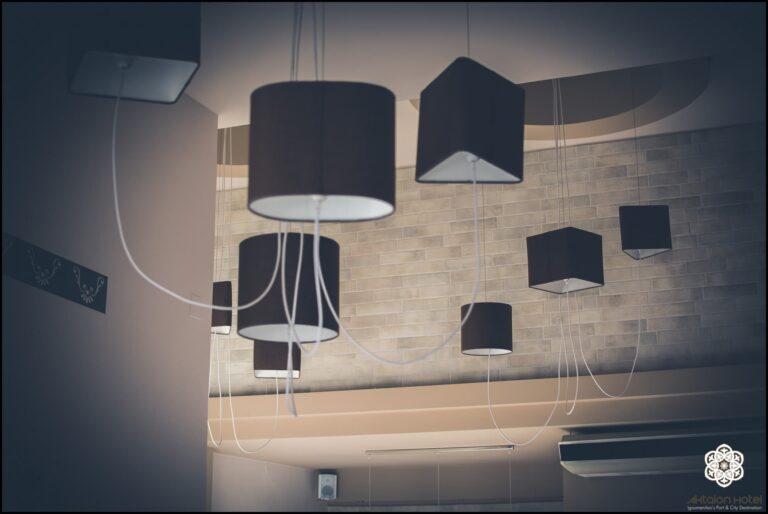 Ξενοδοχείο Ακταίον - φωτιστικά ρεσεψιόν
