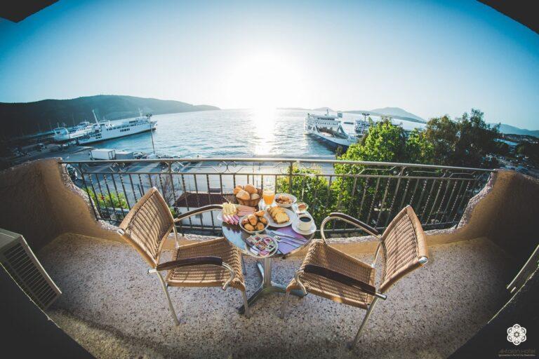 Ξενοδοχείο Ακταίον - Θέα από το μπαλκόνι